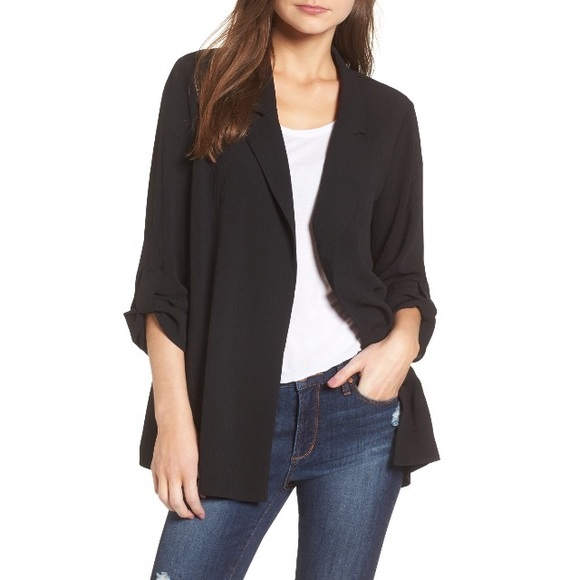 more photos ca638 77223 Lush Jackets   Blazers - LUSH Black Crepe Blazer